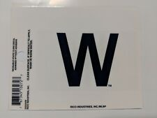 """Chicago Cubs 3 x 4"""" Small Static Cling - Truck Car Auto Window Decal NEW W Flag"""