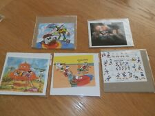 Lot of 5 Disney Souvenir Stamp Sheets-one with numbered certificate
