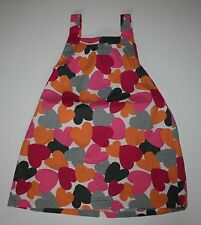 New Gymboree Pink Hearts Print Jumper Dress 3T  NWT Panda Academy Line