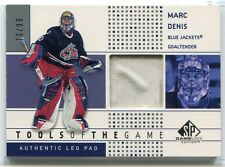 2002-03 SP Game Used Tools of the Game MD Marc Denis Leg Pad 10/99