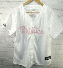 Majestic genuine merchandise L Ladies Halladay Philadelphia Phillies Jersey pink