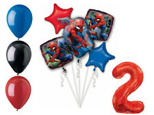 Spider-Man Balloon Bouquet 2nd Birthday Party Supplies Decorations Spiderman