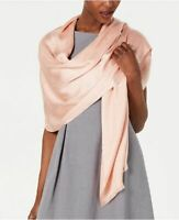 INC International Concepts metallic stripes women's scarf pashmina wrap -Peach