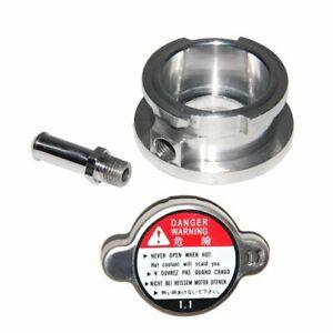 "32mm 1.25"" ID Aluminum Radiator Weld On Filler Neck And Radiator Cap"