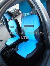 i - TO FIT AN ALFA ROMEO 156 CAR, S/ COVERS, PVC LEATHER, SKY BLUE/black 59.99
