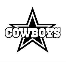 Dallas Cowboys Logo Name Wordmark Window Wall Glass Car Truck Vinyl Sticker V02