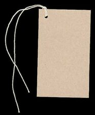 100 BLANK KRAFT HANG TAGS 2-1/8x3-5/8 PRICE & STRINGS. VENDORS WELCOME. WEDDINGS