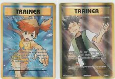 2x Pokemon EVOLUTIONS Ex Full-Art Trainer MISTY'S DETERMINATION BROCK'S GRIT (^)