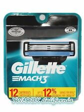 GILLETTE MACH3 Refill Blades 12 Cartridges, Brand New, (#M012)