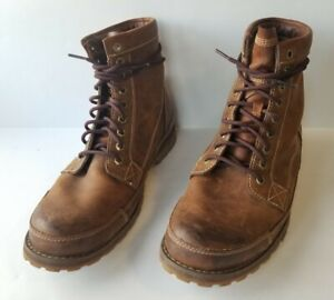 "Timberland 15551 Men's Earthkeepers 6"" Lace-Up Brown Boots Sz 10.5 M"