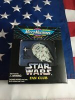 1994 MICRO MACHINES FAN CLUB STAR WARS Han Solo Millennium Falcon w/ mailer box