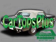 """1964-1966 Ford Mustang Convertible Top Only Ford White Vinyl """"Robbins"""""""