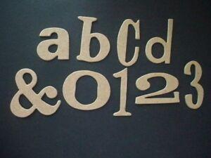 """Raw"" Wordplay Font  Chipboard Letters Plus #'s"