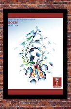 "2018 FIFA World Cup Russia Poster Soccer Tournament   Sochi   13"" x 19"""