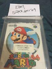 Super Mario 64 SAMPLE/TESTER STICKER ( 1996)VGA 85+QUALIFIED JAPANESE VERSION