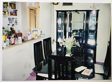 Vintage PHOTO Traditional 80's 90's Black Furniture Dining Room Set w/ Chairs