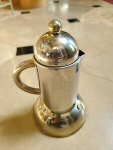 INOX 18/10 Stainless & Gold Stove Top Expresso Maker 6 cups
