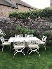 Oxleys Cast Aluminium Metal 6 Seat Garden Furniture Dining Patio Set Rrp 6k