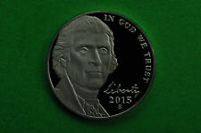 2015-S-  Deep Cameo  Jefferson Nickel  US GEM  Proof  Coin