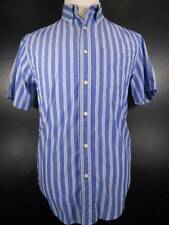 Cool Men's Medium Ralph Lauren Chaps Easy Care Striped Short Sleeve Button Shirt