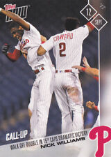 Nick Williams Phillies Call Up Rookie with J.P. Crawford 2017 Topps NOW 597 RC