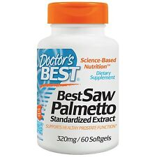 Doctor's Best, Best Saw Palmetto, Standardized Extract, 320 mg, 60 Softgels