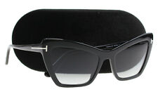 New Tom Ford Sunglasses Women TF 555 Black 01B VALESCA-02 55mm