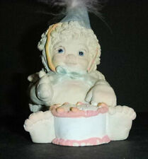 Dreamsicles Figurine Happy Birthday with Hat signed Kristen 1994