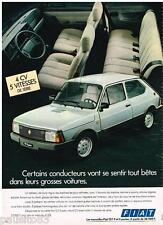 PUBLICITE ADVERTISING 085  1982  FIAT 127 SUPER