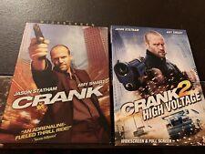 RARE 3-Disc DVD Set: Crank / Crank 2: High Voltage (Originals) w/ Slipcovers HTF