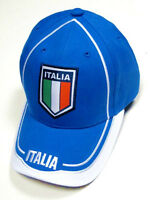 Italia Italy Blue Soccer Country Hat Cap EMBROIDERED Patch Rhinox World Cup