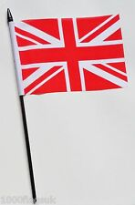 Red and White United Kingdom Union Jack Small Hand Waving Flag
