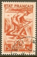 """FRANCE TIMBRE STAMP N°577 """" TRAVAIL FAMILLE 1F50+2F50 """" OBLITERE TB"""
