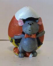 Mouse With Candy Corn Resin Figurine Thanksgiving Harvest Autumn Decoration
