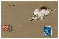 LE CHAT ET LES SOURIS. UNE CHATTERIE.  CAT AND MOUSES