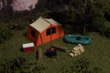 Camp site TENT boat COOLER firewood more N Scale OC/G