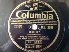 """78 rpm 10"""" ROSEMARY CLOONEY tenderly / did anyone call"""