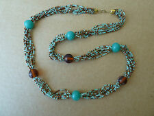 Womens fashion jewellery costume necklace. NWT Postage is free. Blue