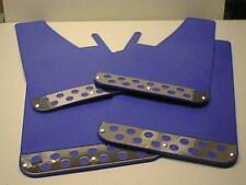 Blue RALLY Mud Flaps Splash Guards fits JEEP COMPASS (2007on)