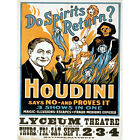 HARRY HOUDINI THE MAGICIAN VINTAGE ADVERTISING POSTER ART PRINT 12x16 inch 30x40