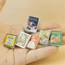 6pcs/Set Dollhouse Miniature 1:12 Model Story Comic Books Set Library Decor