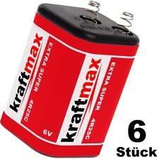 6x Kraftmax / XCell 4R25 6V-Block Batterie SET - 6 Volt / 9500 mAH