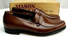 VTG MASON..BROWN..LEATHER.SLIP ON.LOAFERS / DRESS SHOES.NEW OLD STOCK MEN 13.5 C