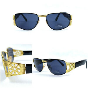 CRAZY OUTDOORS 70s SUNGLASSES VINTAGE GOLD PLATED - SMOKE BLUE LENS ITALY 1970s