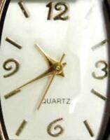 Hinged Cuff Bangle Bracelet Analog New Batt Woman Watch Quartz Silver T Gold T