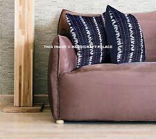 Ethnic Shibori Kantha Pillows Mandala Tie Dye Indigo Blue Cushion Cover Throw