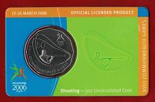 2006 Melbourne XVIII Commonwealth Games 50c Uncirculated Coin - Shooting
