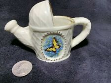 Ceramic Watering Can Yellow Butterfly