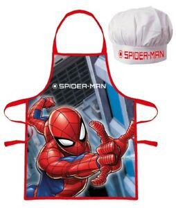 Marvel Spider-Man Apron Set Kids Children Christmas Baking Gift Spider Man 3-8 Y