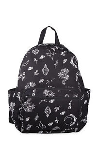 Black Gothic Punk Floral Glow in the Dark Canvas Hemera Backpack BANNED Apparel